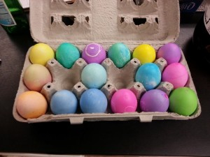 The end product of dyed eggs.