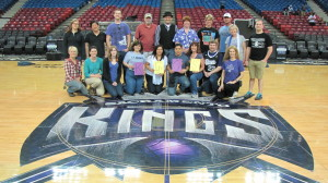 Group picture- ACS members on center court