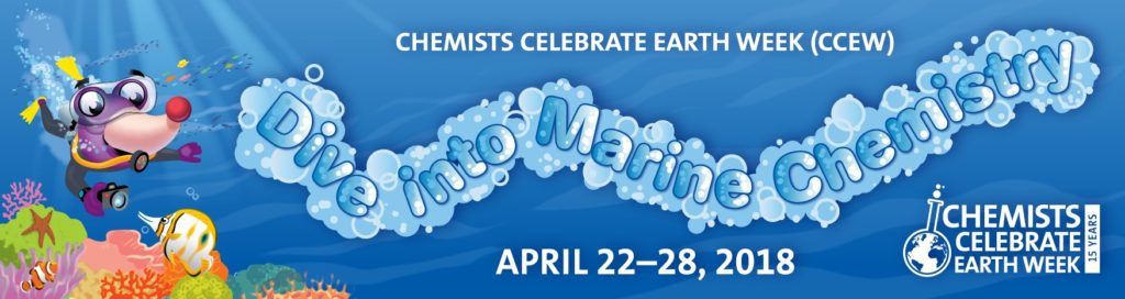 Banner for Chemists Celebrate Earth Day. Theme: Marine Chemistry