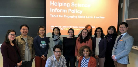 Helping Science Inform Policy Workshop
