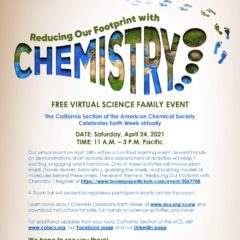 Virtual Earth Week Event: Reducing Our Footprint with Chemistry